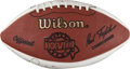 Football Collectibles:Balls, NFL Legends Multi Signed Football....