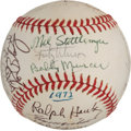 Baseball Collectibles:Balls, 1972 New York Yankees Team Signed Baseball - With Thurman MunsonExample!...