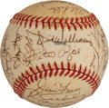 Baseball Collectibles:Balls, 1985 National League All Stars Team Signed Baseball - With Sandy Koufax Example....