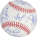 Baseball Collectibles:Balls, 1980 Philadelphia Phillies Team Signed Baseball (25 Signatures) -World Series Season. ...