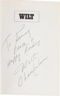 """Basketball Collectibles:Publications, Wilt Chamberlain Signed Hardcover """"Wilt"""" Book. ..."""