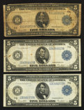 Fr. 863a and two Chicago $5 1914 Federal Reserve Notes