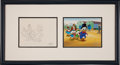 Animation Art:Limited Edition Cel, Duck Tales Uncle Scrooge Animation Production Cel withClean-Up Drawing Original Art (Disney, c. 1987)....