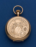 Timepieces:Pocket (pre 1900) , Elgin Very Sharp 14k Gold 8 Size Hunters Case. ...