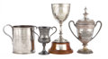 Silver Holloware, British:Holloware, MALCOLM S. FORBES COLLECTION: FOUR VICTORIAN AND LATERSILVER-PLATED TROPHIES FOR VARIOUS EVENTS, DATED 1883 TO 1923 . 14i... (Total: 5 Items)