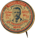 Political:Pinback Buttons (1896-present), Theodore Roosevelt: Souvenir Button for Presidential Visit....