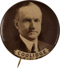 Political:Pinback Buttons (1896-present), Calvin Coolidge: Imposing Real Photo Button. ...