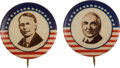 "Political:Pinback Buttons (1896-present), James M. Cox and Warren G. Harding: Rare and Colorful 7/8"" Pair.... (Total: 2 Items)"