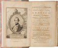 Political:Small Paper (pre-1896), George Washington: 1783 Compendium of Constitutions. ...