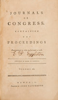 Political:Small Miscellaneous (pre-1896), George Washington: 1777 Journals of Congress....