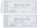 Autographs:Statesmen, James Nye Checks (2) Signed....