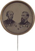Political:Ferrotypes / Photo Badges (pre-1896), Horatio Seymour: Large Ferrotype Jugate....