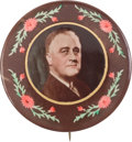 Political:Pinback Buttons (1896-present), Franklin D. Roosevelt: Beautiful Real Photo Button....