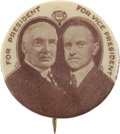 Political:Pinback Buttons (1896-present), Warren G. Harding: Tough Jugate....