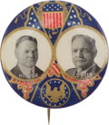 Political:Pinback Buttons (1896-present), Herbert Hoover: Colorful and Bold Jugate....