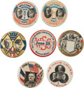 Political:Pinback Buttons (1896-present), Woodrow Wilson: Fine Assortment of Pins from the Great War.... (Total: 7 Items)