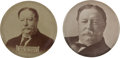 Political:Pinback Buttons (1896-present), William Howard Taft: Two Unusual Campaign Badges.... (Total: 2 Items)