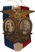Political:Ferrotypes / Photo Badges (pre-1896), Grover Cleveland: Great Jugate. ...