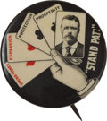 Political:Pinback Buttons (1896-present), Theodore Roosevelt: Stand Pat Button....
