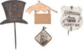 Political:Small Miscellaneous (pre-1896), Benjamin Harrison: Four Delightful 1888 And 1892 Campaign Pieces. ... (Total: 4 Items)