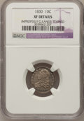 Bust Dimes, 1830 10C Medium 10C--Improperly Cleaned, Stained--NGC Details. XF. NGC Census: (3/151). PCGS Population (8/160). Mintage: 5...