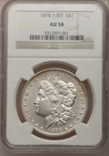 Morgan Dollars: , 1878 7/8TF $1 Strong AU58 NGC. NGC Census: (50/3344). PCGSPopulation (56/5121). Mintage: 544,000. Numismedia Wsl. Price fo...