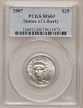 Modern Bullion Coins, 2007 $25 Quarter-Ounce American Platinum Eagle MS69 PCGS. PCGSPopulation (14/2). NGC Census: (0/0). Numismedia Wsl. Price...