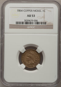 1864 1C Copper-Nickel AU53 NCS. NGC Census: (3/1016). PCGS Population (14/1312). Mintage: 13,740,000. Numismedia Wsl. Pr...