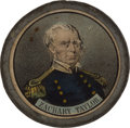 Political:3D & Other Display (pre-1896), Zachary Taylor: Taylor and Fillmore Pewter Rim....