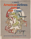 "Miscellaneous Collectibles:General, 1971 ""American Airlines Astrojet Golf Classic"" Celebrity GolfSigned Program...."