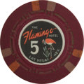 Miscellaneous:Gaming Chips, Flamingo Hotel: $5 Chip....
