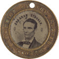 Political:Ferrotypes / Photo Badges (pre-1896), Abraham Lincoln: 1860 Campaign Ferrotype....