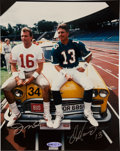 "Football Collectibles:Photos, Joe Montana and Dan Marino Multi Signed ""Upper Deck Authenticated"" Photograph...."