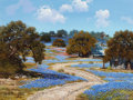 Texas:Early Texas Art - Regionalists, WILLIAM A. SLAUGHTER (American, 1923-2003). Tranquil Day in theCountry. Oil on canvas . 30 x 40 inches (76.2 x 101.6 cm...