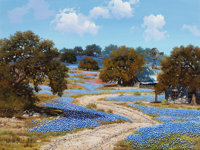 WILLIAM A. SLAUGHTER (American, 1923-2003) Tranquil Day in the Country Oil on canvas 30 x 40 inc
