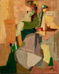 Texas:Early Texas Art - Modernists, ANN CUSHING GANTZ (American, b. 1935). The Cellist, 1959.Oil on canvas board . 20 x 16 inches (50.8 x 40.6 cm). Signed ...