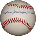 "Autographs:Baseballs, Billy ""William Jennings"" Herman Single Signed Baseball...."