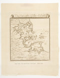 """Miscellaneous:Maps, 1763 Map of the Port of Boston. 10"""" x 13""""...."""