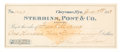 Autographs:Celebrities, Bank Check Payable to Frank Meanea....