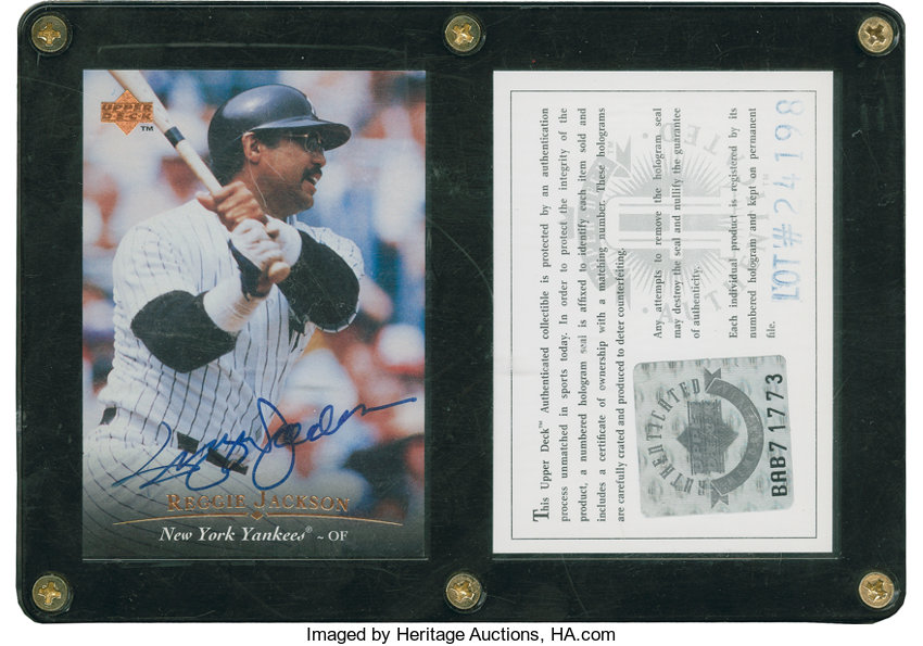 Reggie Jackson Signed Upper Deck Authenticated Baseball Card