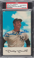 Baseball Collectibles:Others, 1971 Mickey Mantle Signed Card....