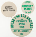 Political:Pinback Buttons (1896-present), John F. Kennedy: Three Scarce Post-1960 Election Varieties. ... (Total: 3 Items)