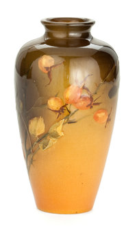 A ROOKWOOD ART POTTERY STANDARD GLAZE VASE DECORATED BY SAX Decorated by Sara Sax (American, 1870-1949) Rookwo