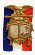 Political:Ribbons & Badges, Benjamin Harrison: Choice Cardboard Jugate....