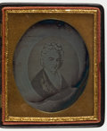 Photography:Daguerreotypes, George and Martha Washington: Daguerreotype Portrait. This sixth-plate daguerreotype is a copy of an early engraving of Mart...