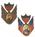 Political:Ribbons & Badges, Grant & Colfax: Matched Pair of Badges....