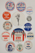 Political:Pinback Buttons (1896-present), Super Group of 1950s - 1992 Designs. ... (Total: 14 Items)
