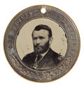 Political:Ferrotypes / Photo Badges (pre-1896), Grant & Colfax: Large Double-Sided Ferrotype....