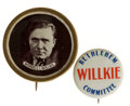 Political:Pinback Buttons (1896-present), Wendell Willkie: Pair of Rarities.... (Total: 2 Items)