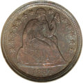 Seated Dimes, 1857 10C MS67 NGC....